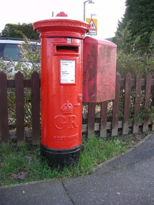 13. Where is this King George pillar box situated?  Definitely not in Sussex or the West Country.