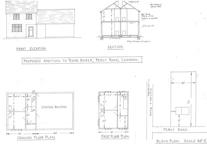 Plans for the Rose Bower addition