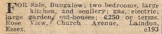 Church Avenue - Laindon   Essex Newsman 1934