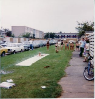 The water slide, Royal Wedding Day July 1981 Woolmergreen, Lee Chapel North. | Nina Humphrey (nee Burton)