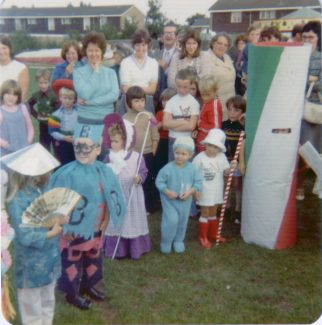 Chowdhary summer fete fancy dress competition 1977. | Nina Humphrey (nee Burton)