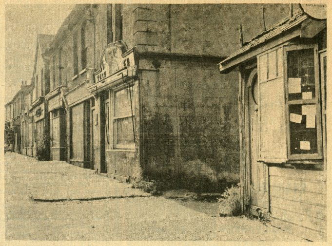 Shops south of Durham Road. | Laindon Recorder 1965.
