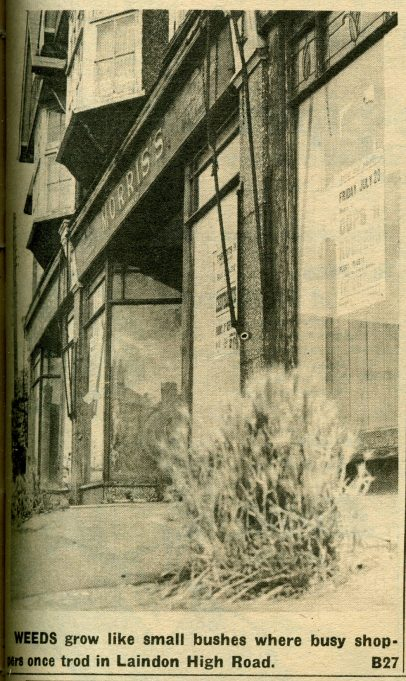 Morris's Outfitters - east side of the High Road | Laindon Recorder 1965