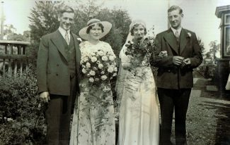 Sidney and Mabel with brother Billy as best man | Peter Sloper