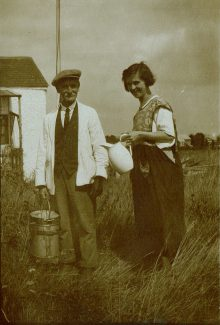 Grandad William delivering the milk to Mrs Vido in Worthing Road | Peter Sloper