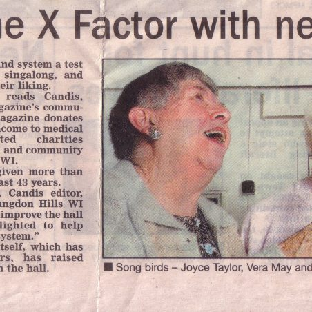 On a 'High Note'.  Joyce Taylor, Vera May and Audrey Clarke. | The Basildon Evening Echo