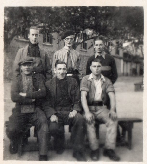 St. Hyppolyte, France.  Richard far left, back row.  Les, middle, back row. | John Devine