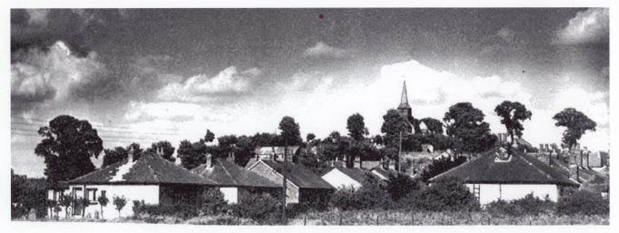Looking across from Dickens Drive.  The wooden church hall can be seen in the middle of picture, slightly to the left. | Barry Ellerby