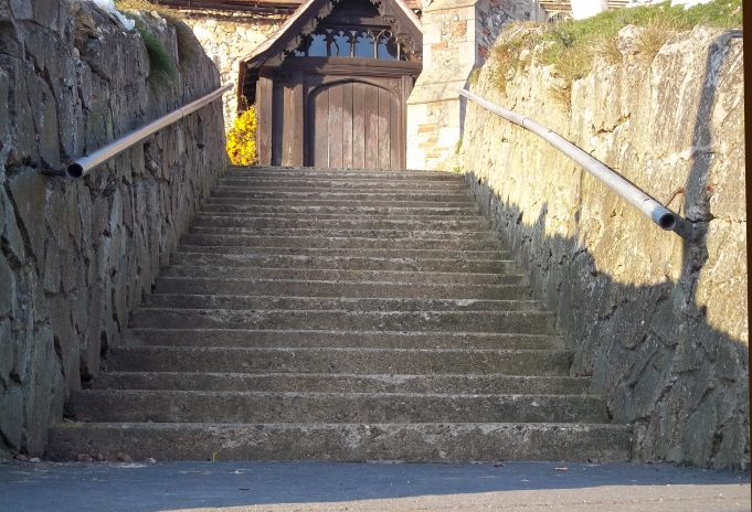 14. Where do these steps lead to - holy matrimony perhaps?
