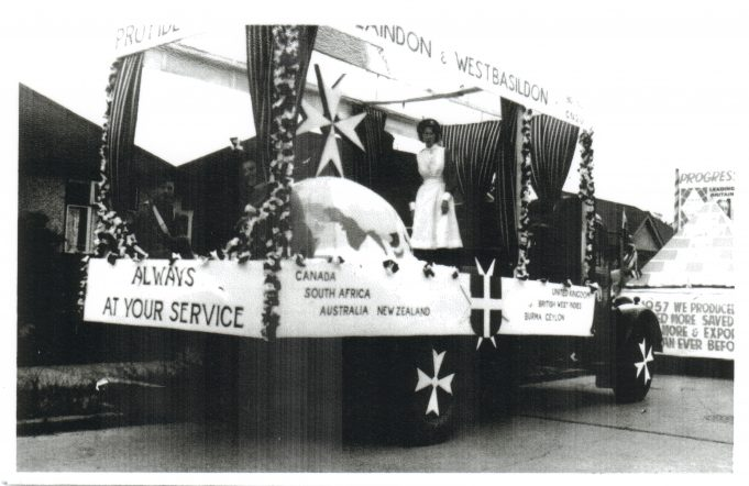 St John's float, thought to have taken part in the 1957 Laindon Carnival.
