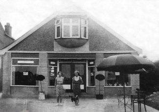 The two ladies outside the Bungalow Cafe are Alice Flashman (nee Whomes) and Rose Coles (nee Whomes) | Maureen Williams