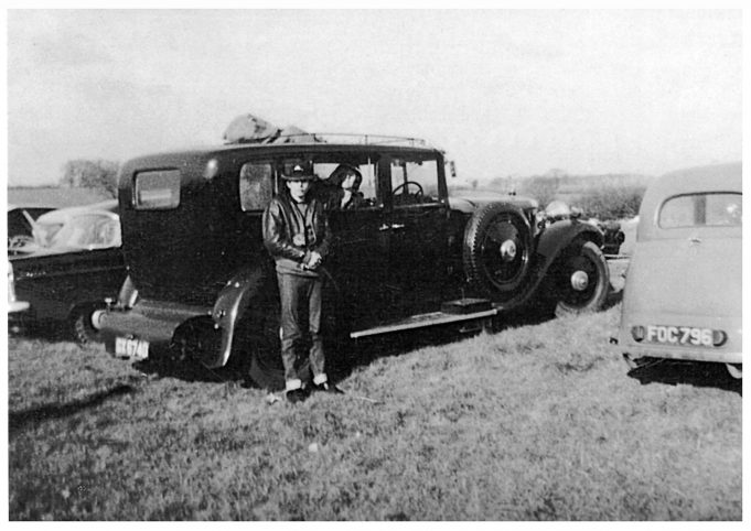 Peter Bassett standing outside the vehicle and me looking out the window.   Brian Cordell