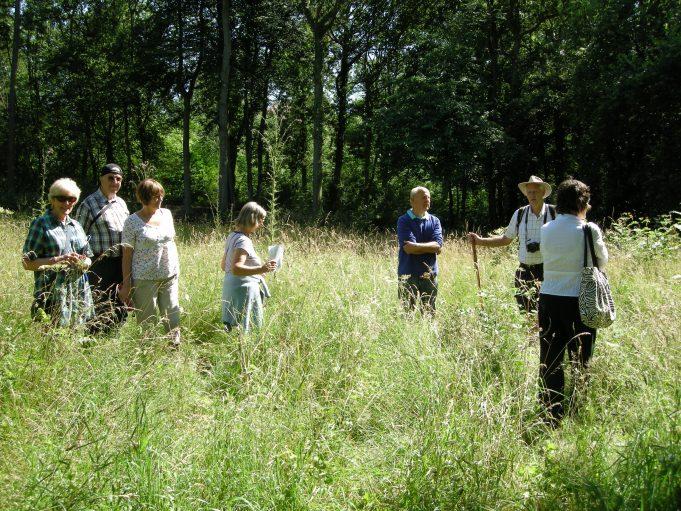 In the meadow. From left, Nina Humphrey, Paul Hickman, Pat Hickman, Joyce Dean, Bob Springate, Ken Porter, Denise Rowling. | Colin Humphrey