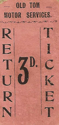 Old Tom Motor Service Ticket