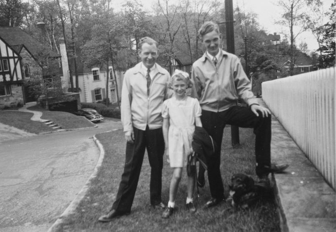 Philip with his children, Lawrence and Judy - Toronto 1948.   Greg Wass.
