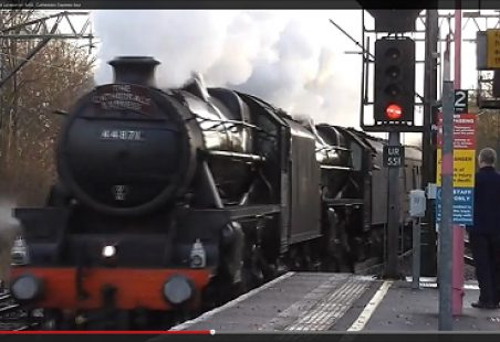 Video of Steam Train passing through Laindon Station