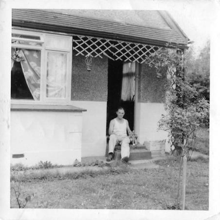 Uncle Joe at Great Nanna & Grandad's Bungalow (Sunview) in Raglan Road