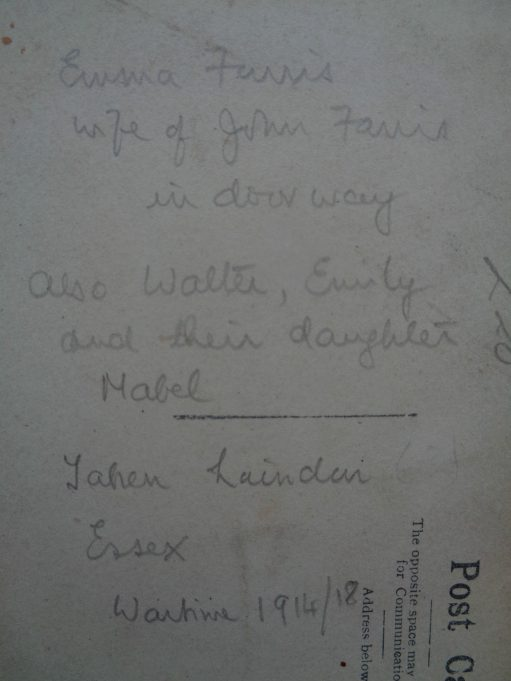Back view of the postcard as it appeared on eBay. | Nina Humphrey