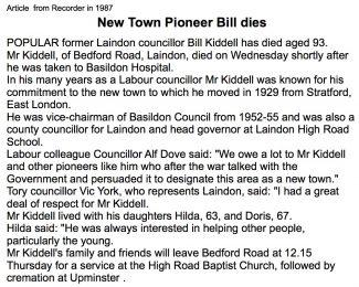 Bill Kiddell 1894 - 1987