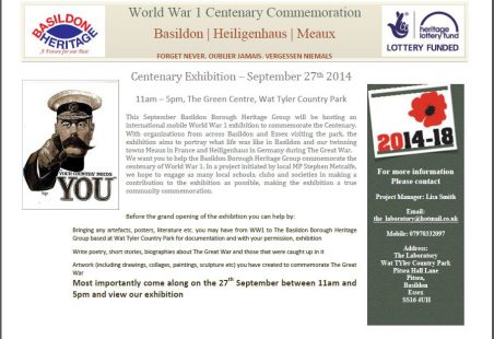 World War 1 Centenary Commemoration