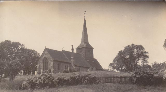 Church with the old weather cock