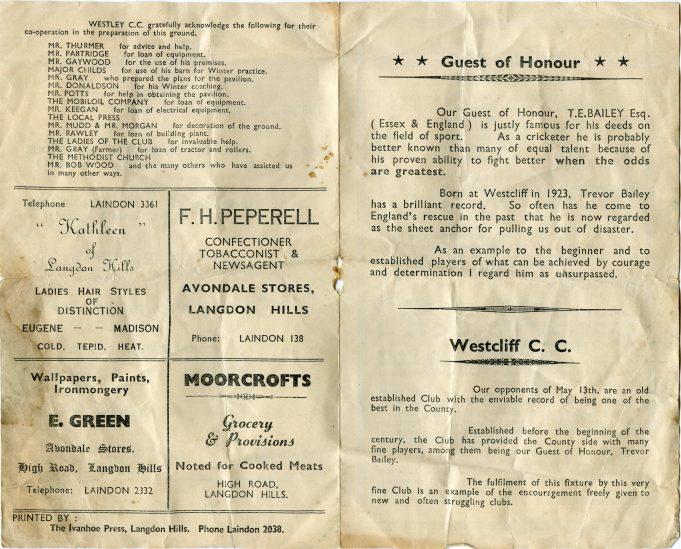 Westley Cricket Club | Joyce Burton