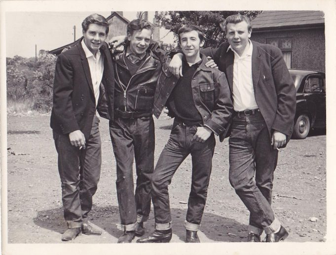 Alan Newton, Fred Sewell (my Brother), Brian Cordell (his brother Dave Cordellwas killed) and Dave Norton. This photo was taken approx.1960 | Gloria Sewell