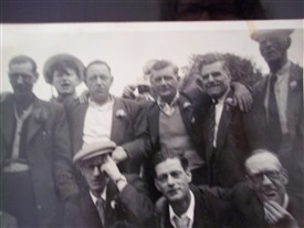 Mens day out from Winstone Club approx 1945 | Gloria Sewell