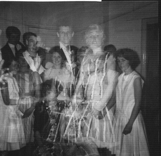 Triple exposure when the camera jammed at the leaving dance. | Nina Humphrey(née Burton)