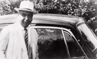 Dr Chowdhary with his Daimler