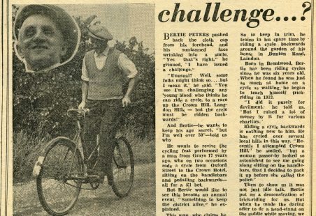 Bertie Peters and the Backwards Bicycle Races
