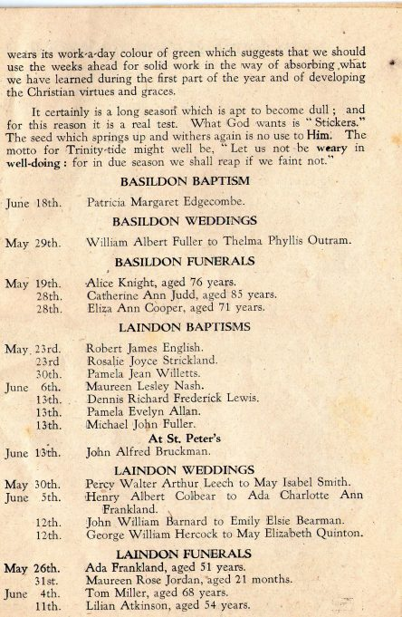 Parish Magazine July 1943