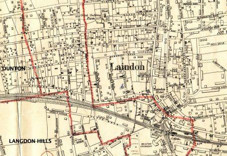 Parish Boundaries around Laindon Station