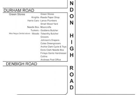Laindon High Shop map
