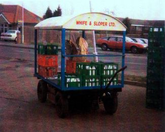 Early open sided delivery cart | Peter Sloper