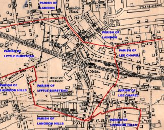 Parish Boundaries around Laindon Station | Ordinance Survey Office