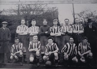 Jim Rawley 3rd team member from the right in back row   Janet Rawley