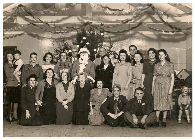 Adults and children at the 1949 party.   Ellen English Née Burr
