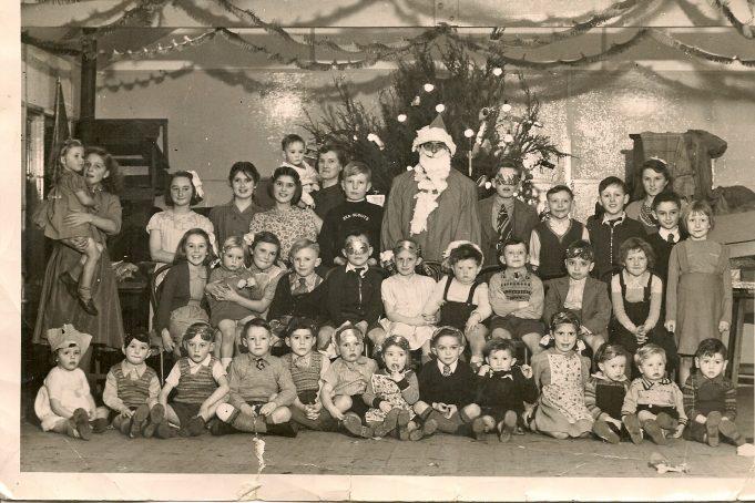 The children at the 1949 party   Ellen English Née Burr