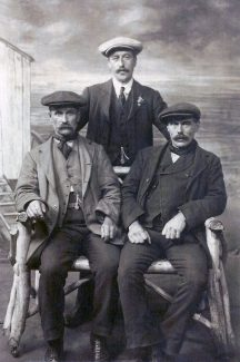 George and Louisa's 3 sons, standing Thomas, seated on left George, and on right my grandfather Edwin | Ellen English Family