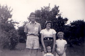 Happy days again, 1954. Dennis, Anne, Nina and Alan Burton. | Nina Humphrey