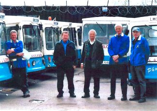 Andy Savage, Jimmy King, Ray Whife, Peter Sloper and Dave Lindsey at closure of dairy | Peter Sloper