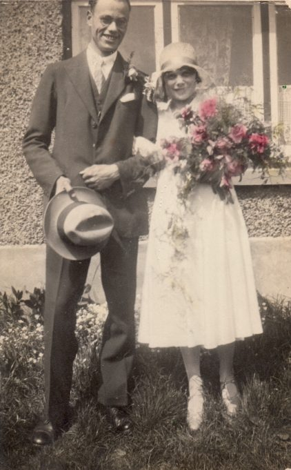 Ann & Len on their Wedding Day