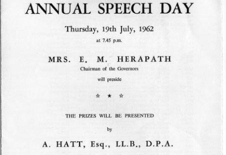 LHRS Speech Day 1962.