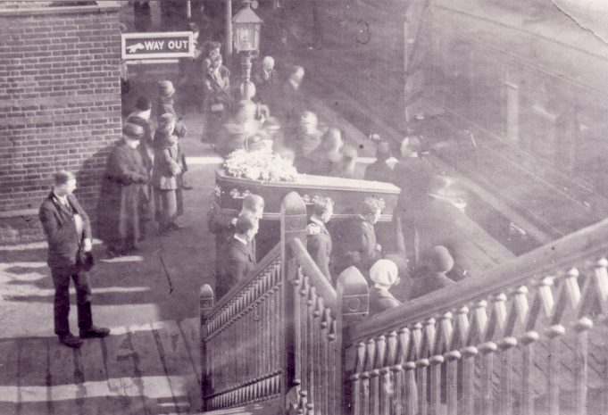 Funeral Group on Laindon Station