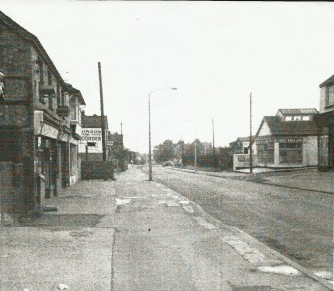 RELPH'S CHEMIST, HARRY'S GREENGROCERS/FRUITIER, SHEPHERD'S RESTAURANT, LAINDON RECORDER. (CAREY BROTHERS ACROSS THE ROAD).