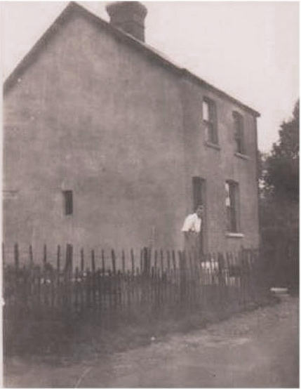 William Moxley in the garden of 'The Cottage', Dry Street. (Date unknown).