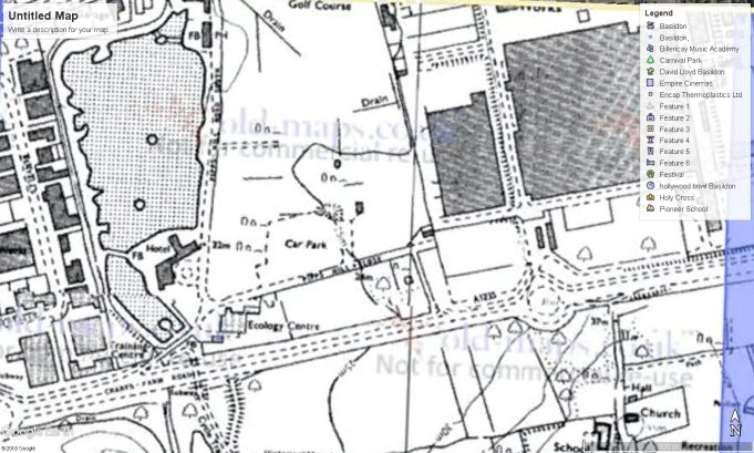 'Park Lodge' stood to the right of the Ecology Centre, between Pipps Hill Close and Crane's Farm Road.  A tree can be seen marked on the large plot of the former house and garden.