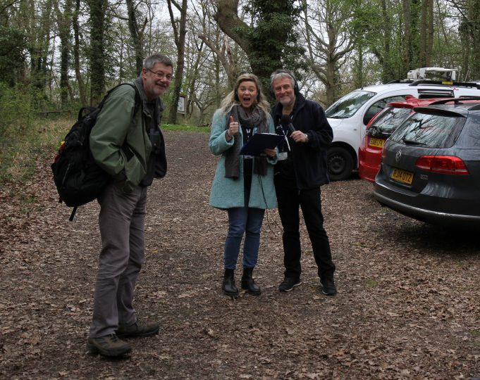 Glenn Jacobs with Vicky and Barry, waiting for the answer to the first clue before setting off on 'The Quest'. | Colin Humphrey