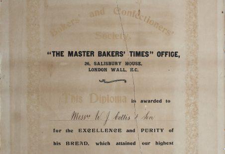 W. J. Cottis - Diploma 1909.